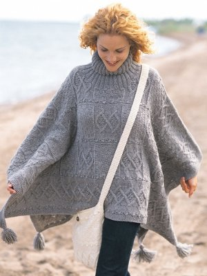 a56bce31d0f28d 27 Knit Poncho Patterns to Keep You Cozy