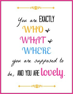 You Are Lovely Free Printable Quote