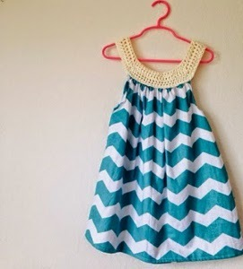 Combined Crafts Sewn Crochet Dress