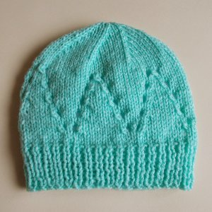 Knitting Pattern For Lace Baby Hat : Sophisticated Baby Hat AllFreeKnitting.com