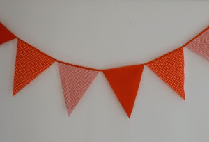 Autumn Orange Thanksgiving Bunting
