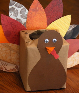 Scrap Paper Turkey Box