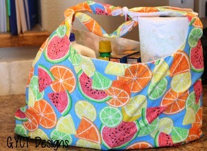 Summer Fruit DIY Grocery Bag