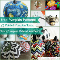 Free Pumpkin Patterns: 22 Painted Pumpkin Ideas, Fabric Pumpkin Patterns, and More