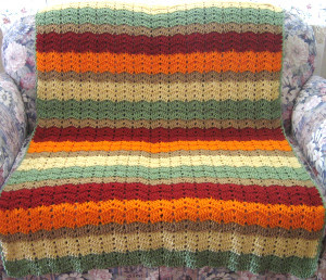 A Cornucopia Of Color Afghan