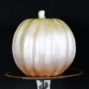 Gilded Ombre Fall Wedding Pumpkin