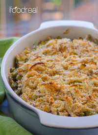 Healthy Parmesan Green Bean Casserole