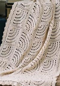 Swirling Fans Crochet Lace Pattern