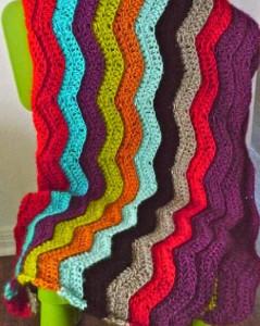 Simple Rainbow Chevron Crochet Pattern