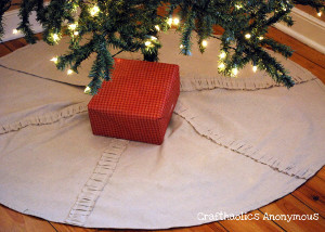 Rustic Ruffled Christmas Tree Skirt