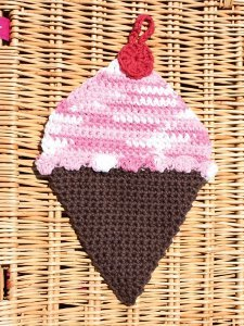 Ice Cream Crochet Dishcloth