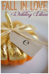 54 Fall Wedding Ideas: Fall Wedding Colors, Decor, Flowers, and More