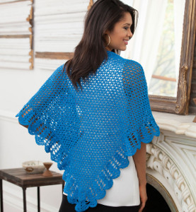 Splendid Scalloped V-Stitch Shawl