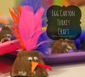 Upcycled Egg Carton Turkey