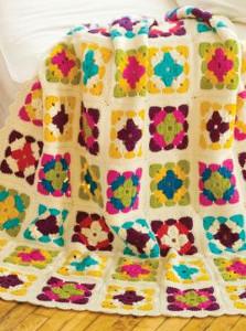 Watercolor Granny Square Blanket