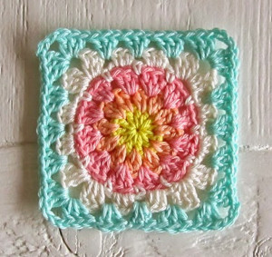 Summer Sherbet Granny Square Pattern