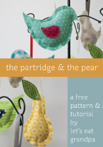 Partridge and Pear DIY Christmas Ornaments