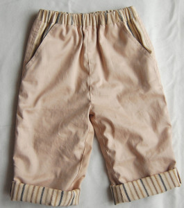Boys Pants with Striped Cuffs