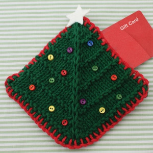 Christmas Tree Gift Card Cozy