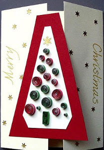 Quilled Ornaments Christmas Tree Card
