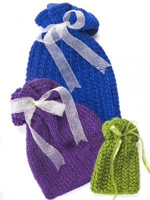 Scarf Knitted Patterns : Nifty Knit Gift Bags AllFreeKnitting.com