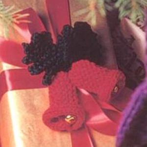 Ornamental bells for Knitted christmas bells