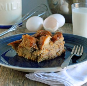 White Chocolate French Toast Casserole