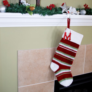 Sport Striped Crochet Stocking
