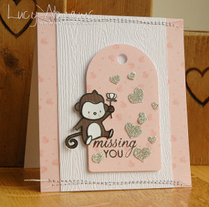 Little Monkey Missing You Card