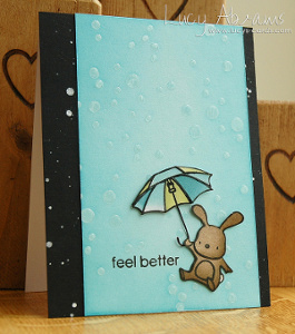 Bunny and Umbrella Feel Better Card
