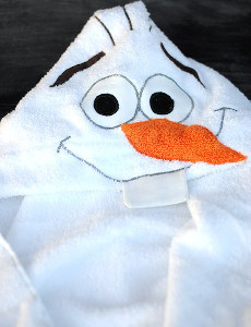 Olaf the Snowman Hooded Towel Tutorial