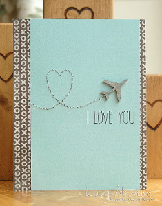 I Love You Stitched Greeting Card