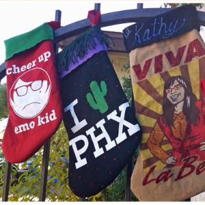 T-Shirt Stockings for the Holidays