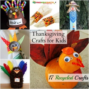Recycled Thanksgiving Crafts for Kids