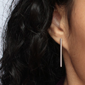 Simple and Sleek Silver Earrings
