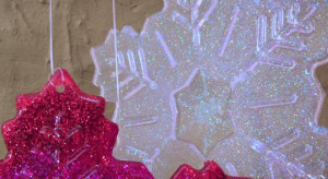 North Pole Resin Snowflakes