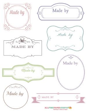 free printable victorian labels for handmade crafts. Black Bedroom Furniture Sets. Home Design Ideas