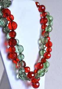 Christmas Red and Holiday Green Necklaces