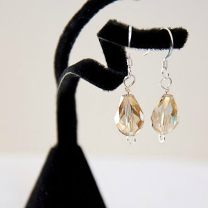 Golden Candlelit Crystal Earrings