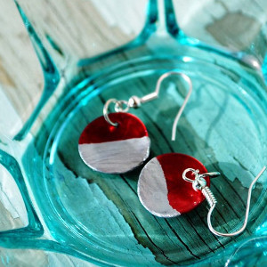 DIY Christmas Color Block Earrings