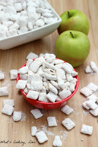 4 ingredient apple cider muddy buddies for Easy no bake dessert recipes with few ingredients