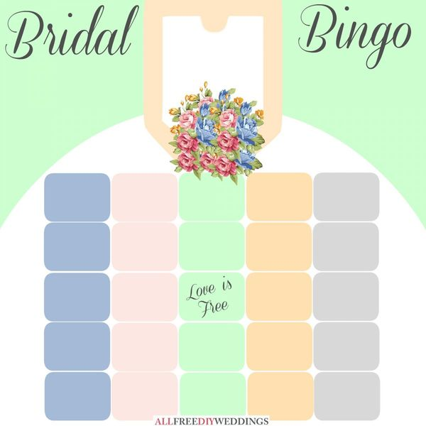 New Bridal Bingo: Free Bridal Shower Games