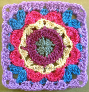 Kaleidoscope Crochet Flower Pattern
