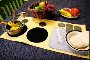 DIY Play Kitchen Mat