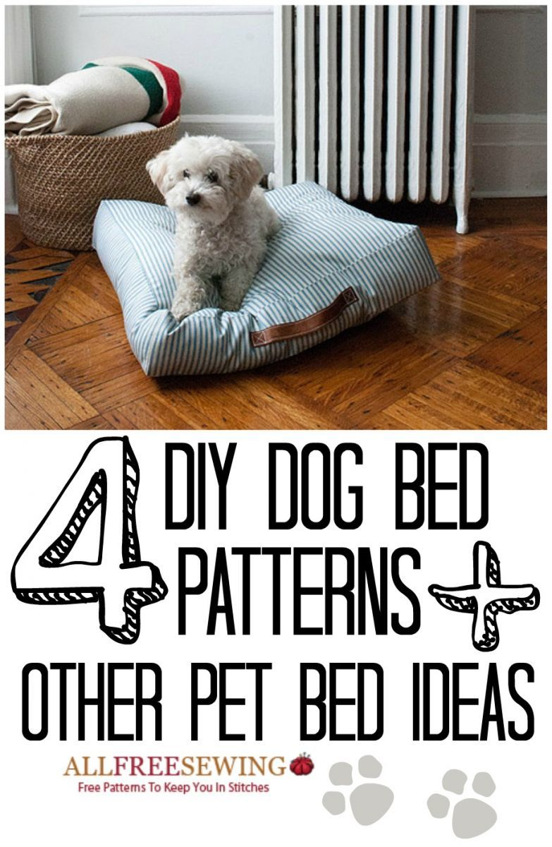 4 Diy Dog Bed Patterns 6 Other Diy Pet Bed Ideas