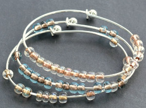 Stackable Seed Bead Bangles
