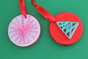 Fun String Art Ornaments