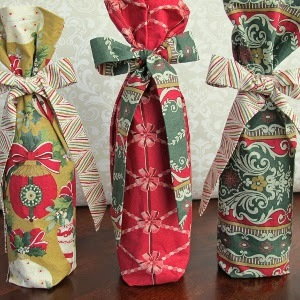 Christmas Wine Bag Tutorial