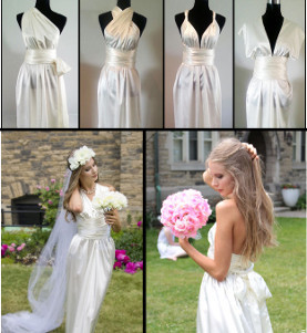 Stunning DIY Convertible Wedding Dress