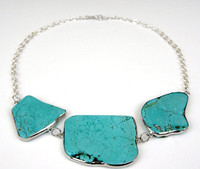 10 Minute Turquoise Statement Necklace